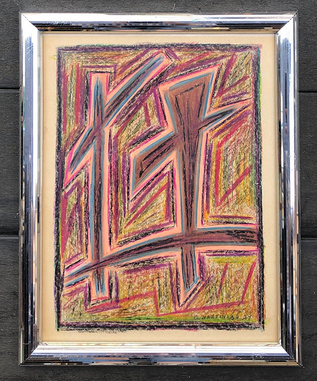 """Abstraction"" - Original drawing, 1959 #1"