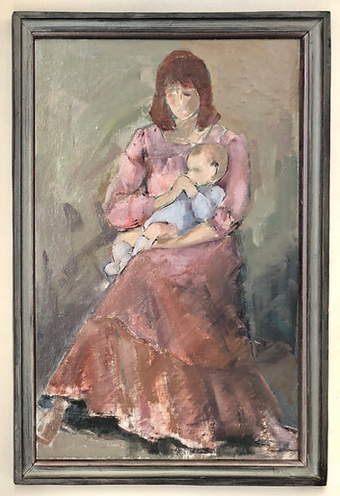 """""""Woman and Child"""" - Original painting"""