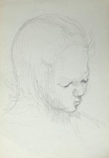 François Lanos - Dessin Original - c.1950 #15
