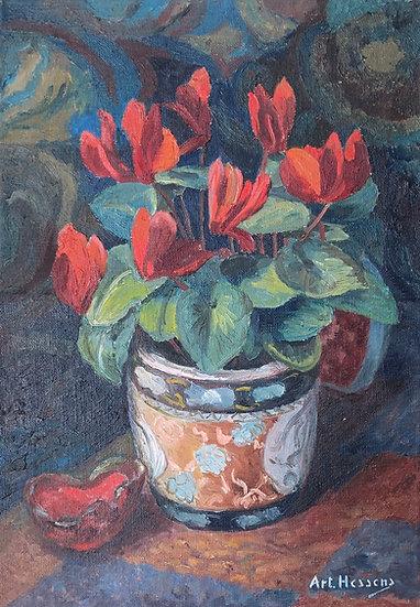 """Arthur Hessens (1899-19..) - """"Les Fleurs Rouges"""""""