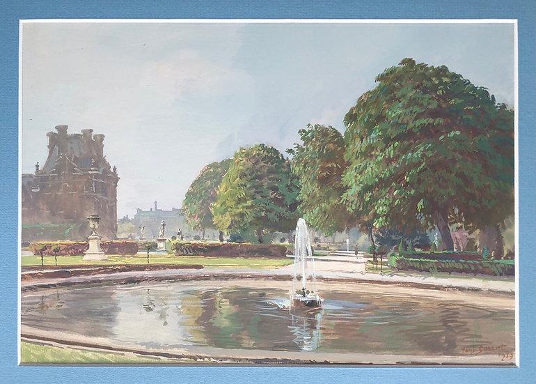 "Paul Sarrut (1882-1969) - ""Paris, The Tuileries Garden"" - 1939"
