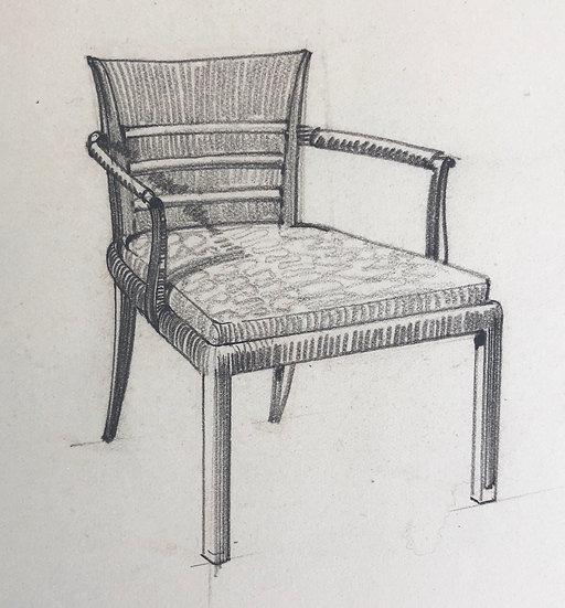 """Maison Piersen"" - Original Vintage Drawing - 1950/1960s #40"