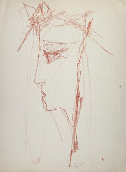 "Jacques Thiout (1913-1971) - ""Portrait of a Woman"" #12"