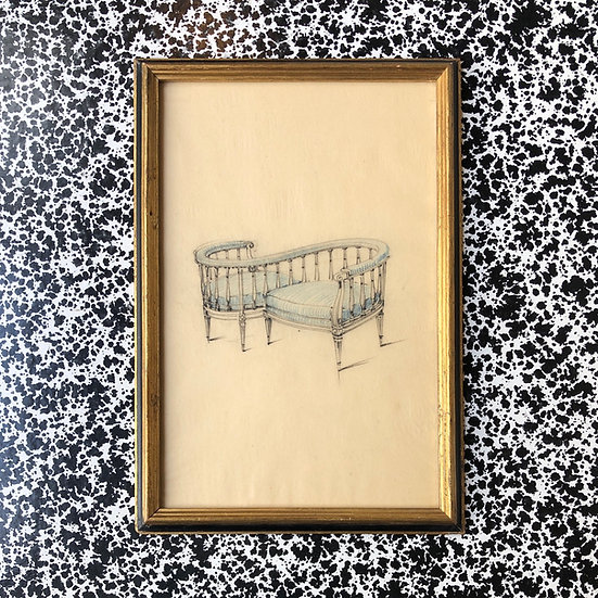 """Maison Piersen"" - Original Drawing 1950/1960s"