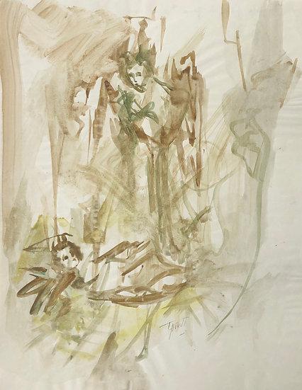 """Jacques Thiout (1913-1971) - """"L'enfant Jésus"""" #11"""