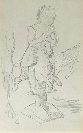 François Lanos - Dessin Original - c.1950 #8