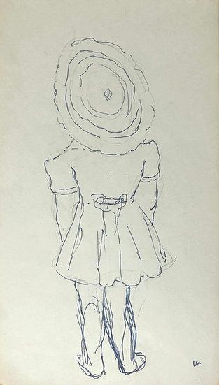 François Lanos - Original Vintage Drawing - 1950s #5