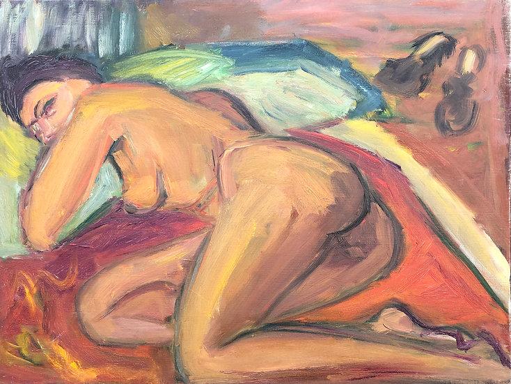 "Marie-Louise Garnavault (1911-2012) - ""Nu féminin"" #1"