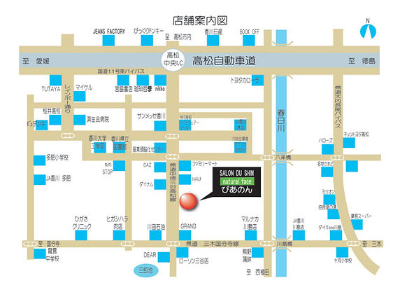 SALON DU SHIN マップ