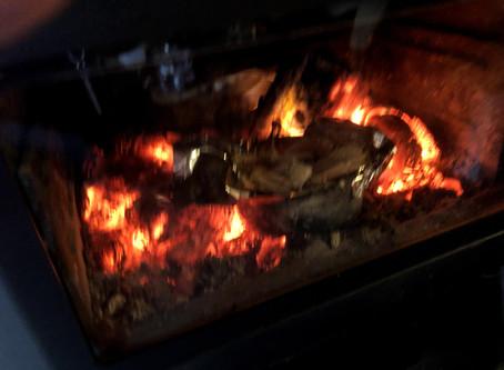 薪ストーブでオーブン料理