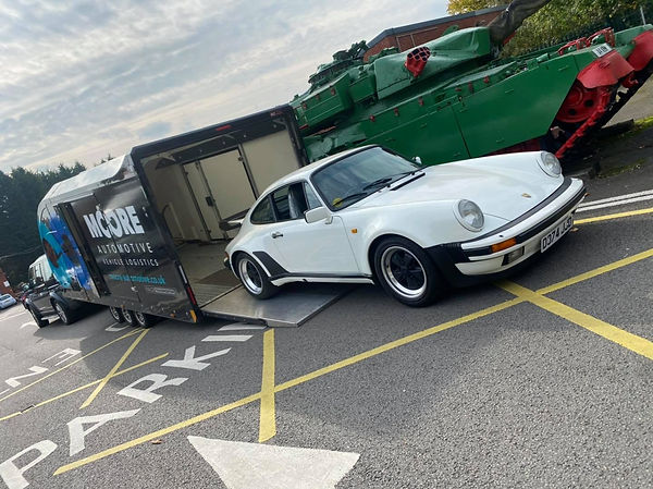 classic car transport in the Midlands, UK
