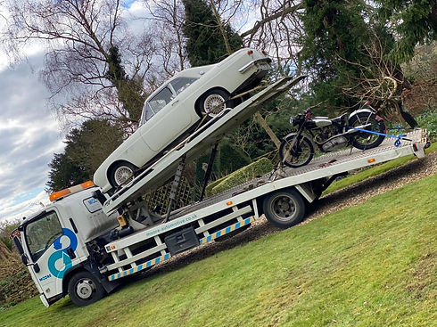 covered classic car transport midlands