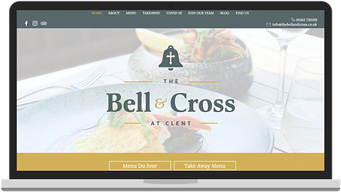 web design for the bell and cross worcestershire