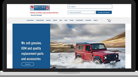 web design for marketing client based in Birmingham