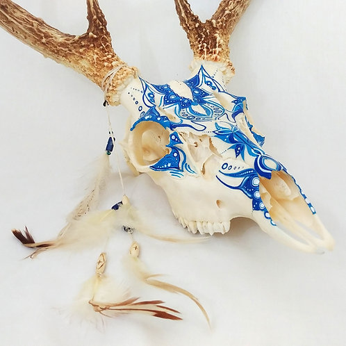 Rita | Hand Painted Deer Skull