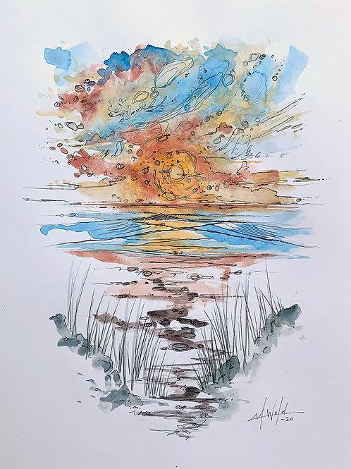 Tybee Island Study II | Original Drawing