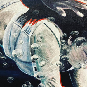 Details from my largest canvas..._#diver