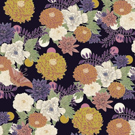 Spot the moth, textile design detail by