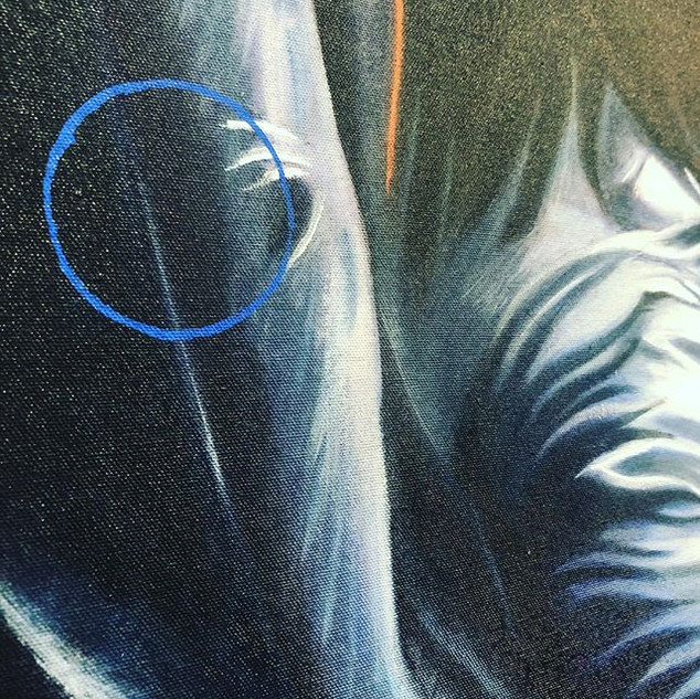 Another detail from canvas 'Night Diver'