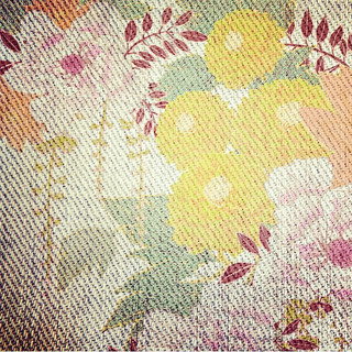 """Detail of """"Faded Floral"""", deliberately d"""