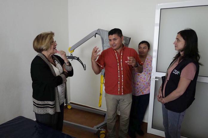 Aldo Gutiérrez, normalist injured in Iguala receives visit from the IACHR