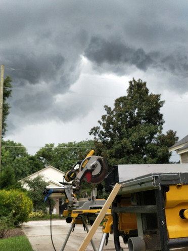 Saws on a cloudy day