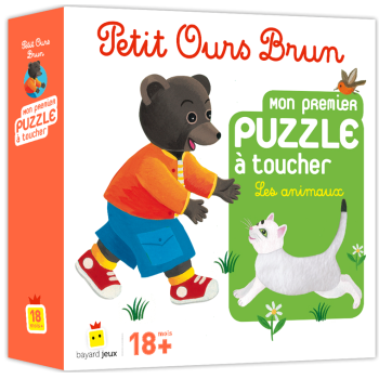 Petit Ours Brun: 1er puzzle à toucher, les animaux
