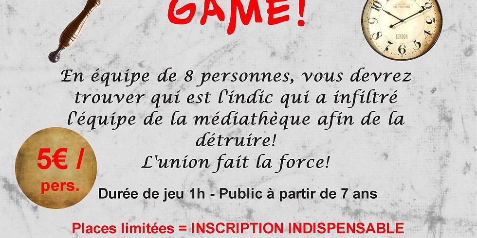 ESCAPE GAME à la médiathèque 2