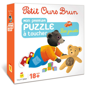 Petit Ours Brun: mon 1er puzzle à toucher, les jouets