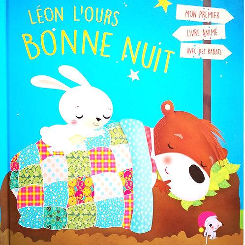 Léon L'ours Bonne Nuit, Livre animé avec rabats