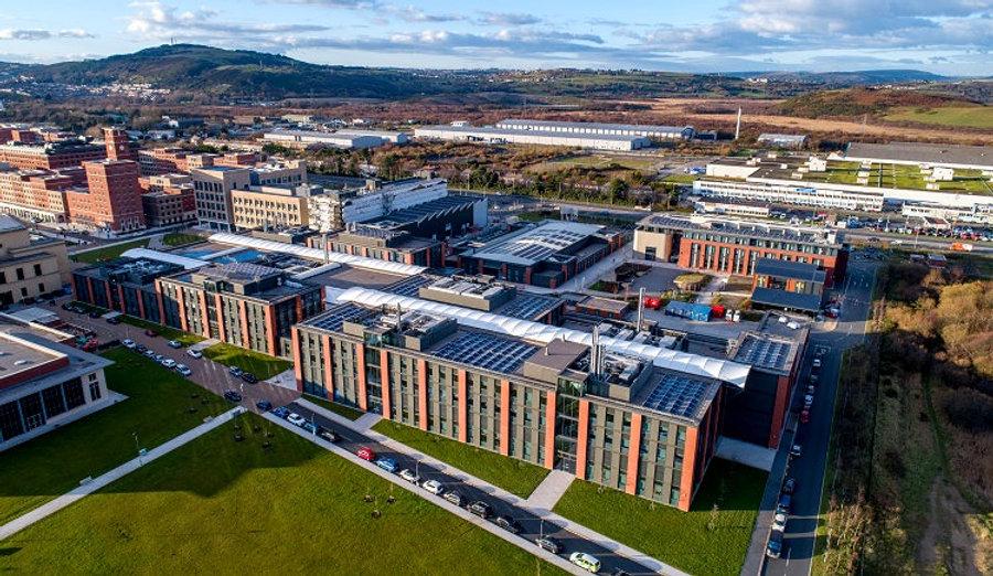 View of Swansea University Bay Campus in Wales, UK