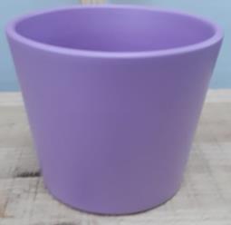 Ceramic Dida Orchid Pot Lavender Shiny 13 CM