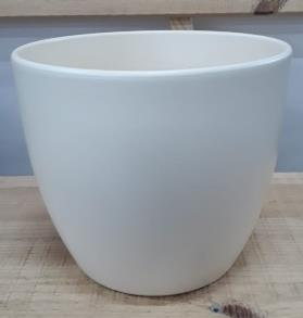 Ceramic Boule Pot Pearl Matt 22 CM