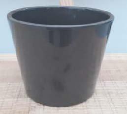 Ceramic Dida Orchid Pot Grey Shiny 13 CM