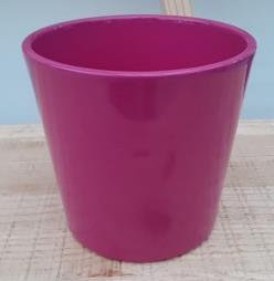 Ceramic Dida Orchid Pot Fuchsia Shiny 13 CM