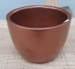 Ceramic Boule Pot Copper 7/6/5 CM