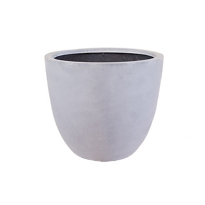 Fiber Stone Pot, Grey Natural
