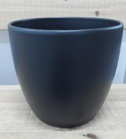 Ceramic Boule Pot Anthracite Black Matt 28 CM