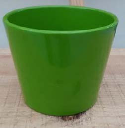 Ceramic Dida Orchid Pot Green Shiny 13 CM