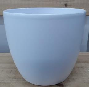 Ceramic Boule Pot White Matt 28 CM