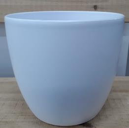 Ceramic Boule Pot White Matt 32 CM
