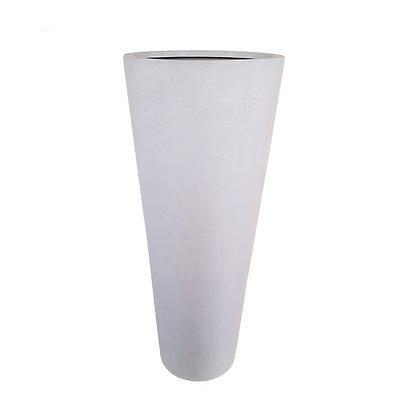 Fiber Stone Pot, White Natural