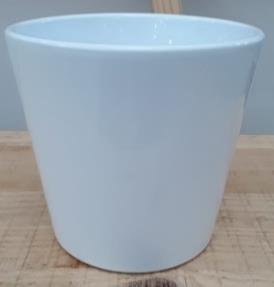 Ceramic Dida Orchid Pot White Shiny 13 CM