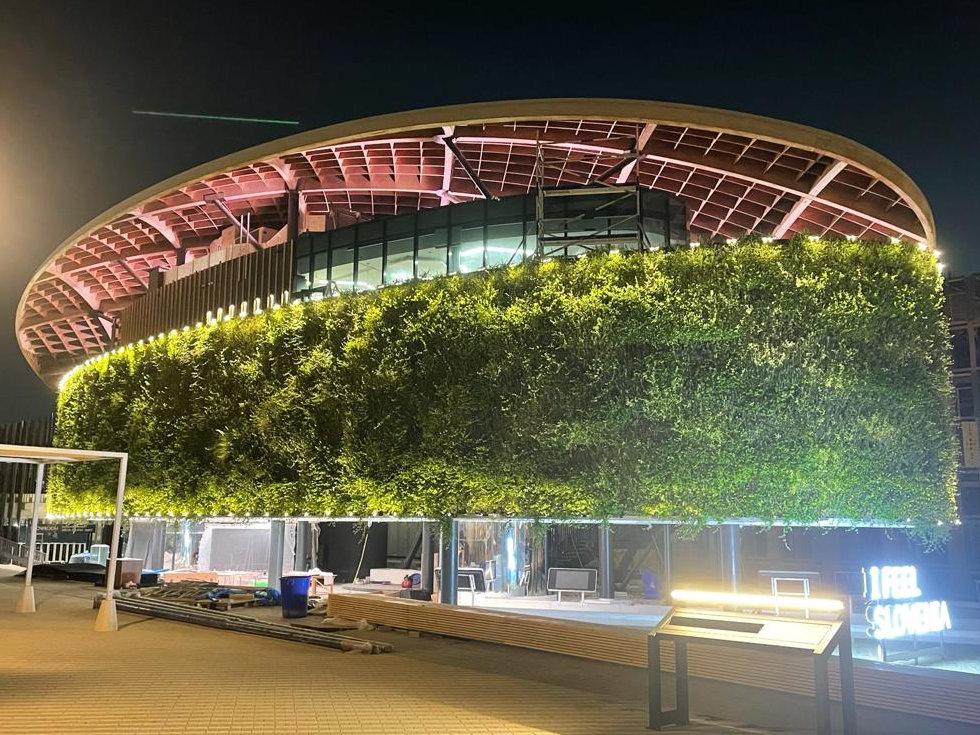 Sempergreenwall at Slovenia pavilion EXPO2020