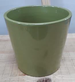 Ceramic Dida Orchid Pot Green Shiny 13 CM
