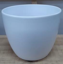 Ceramic Boule Pot White Matt 22 CM