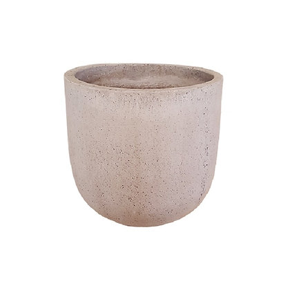 Concrete Pot, Grey Natural-with spot
