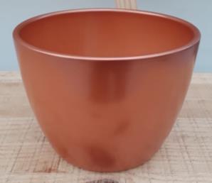 Ceramic Boule Pot Copper 13.5/12/9.5 CM