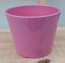 Ceramic Dida Orchid Pot Pink Shiny 13 CM