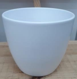 Ceramic Boule Pot White Matt 19/17/12.5 CM